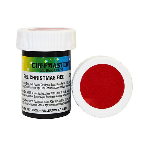 Гель-краска Base Color Chefmaster Christmas Red 28грамм