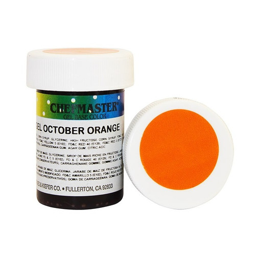Гель-краска Base Color Chefmaster October Orange 28грамм
