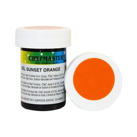 Гель-краска Base Color Chefmaster Sunset Orange 28грамм